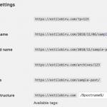 pilihan permalink url menjadi post name
